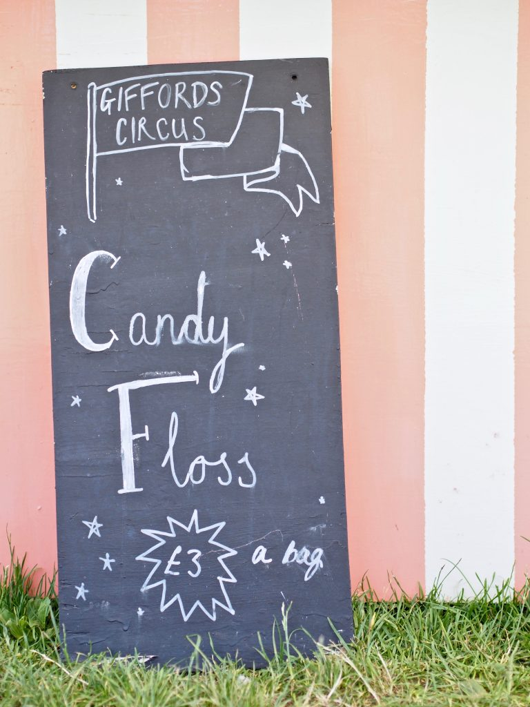 candy floss available at the Giffords CIrcus
