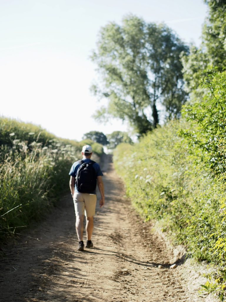 walking on a trail on the Cotswold Way National Park
